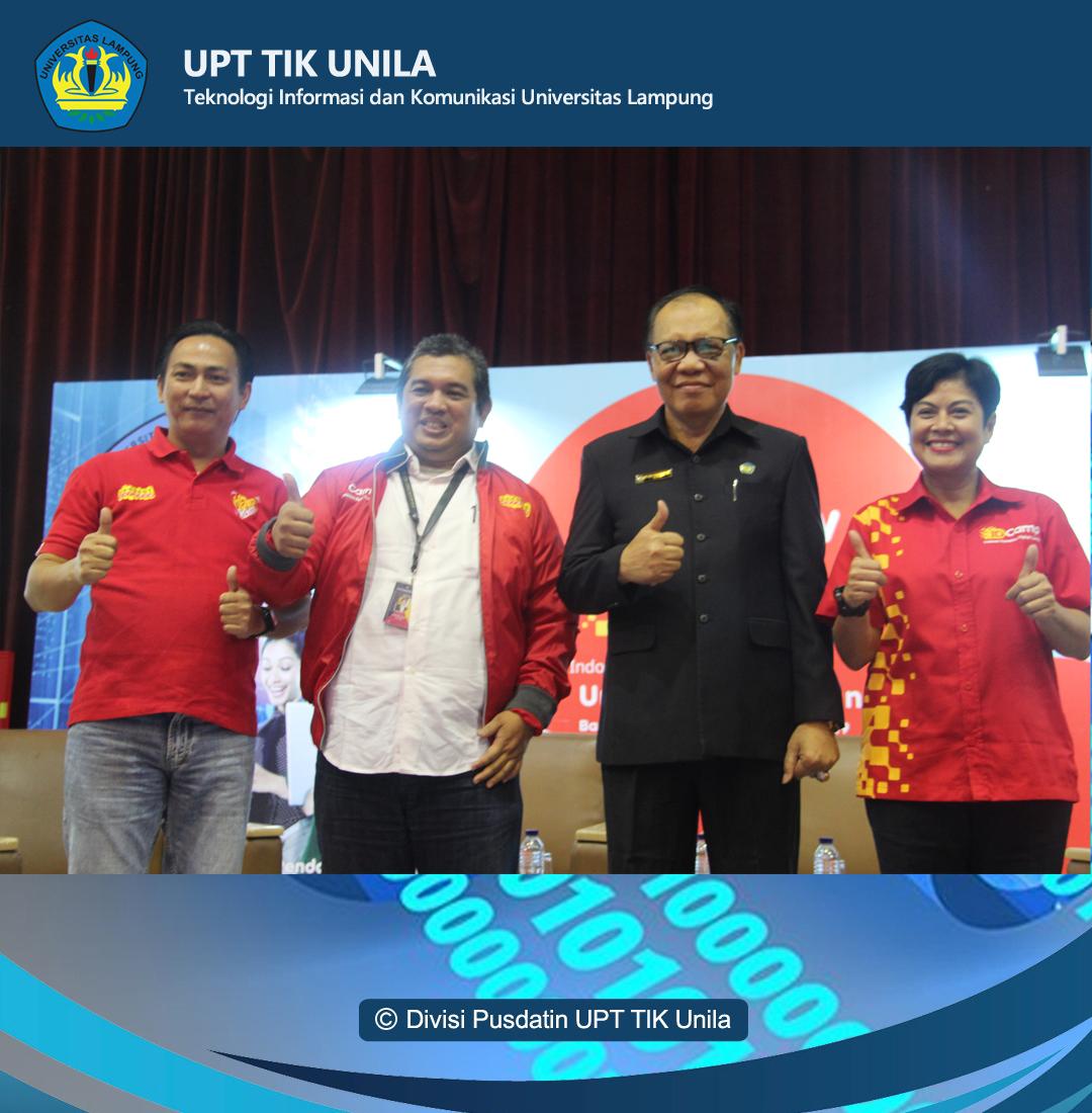 """Universitas Lampung (UNILA) dan Indosat Ooredoo Digital Camp (ID Camp) gelar Talkshow: """" Perkembangan Industri Digital di Indonesia""""."""
