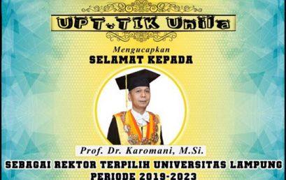Rektor UNILA Periode 2019-2023