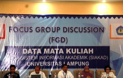 Focus Group Discussion Data Mata Kuliah Pada Sistem Akademik (SIAKAD) Unila