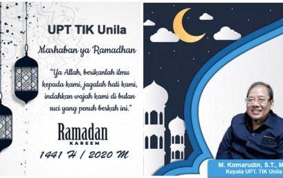 UPT.TIK Unila Menyambut Bulan Suci Ramadhan 1441 H