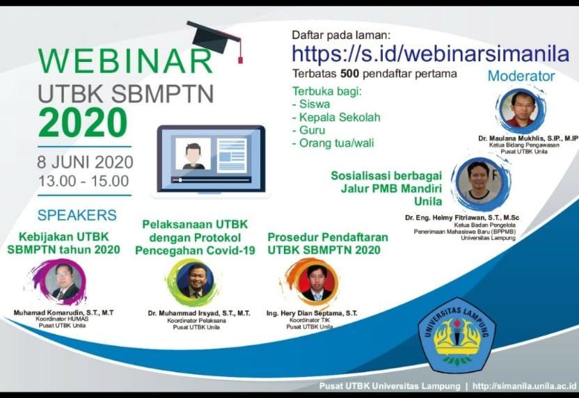 Webinar UTBK SBMPTN 2020 Universitas Lampung