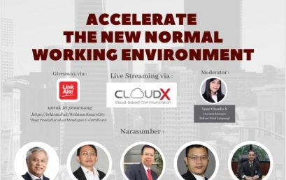 WEBINAR SMART CITY : ACCELERATE THE NEW NORMAL WORKING ENVIRONMENT