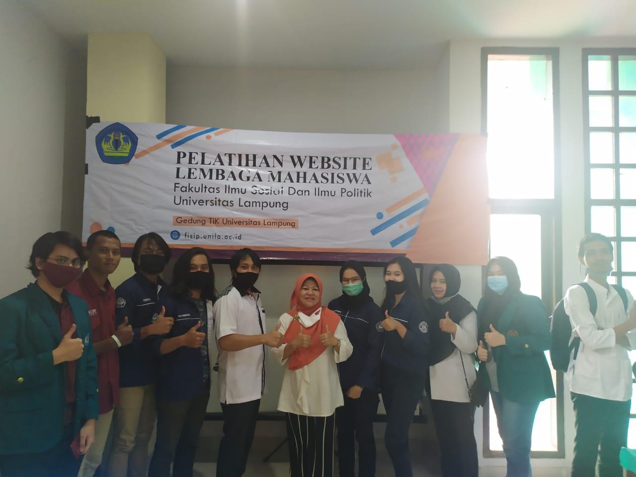 Pelatihan Website Lembaga Mahasiswa Universitas Lampung